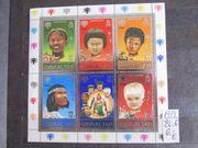 Ein Bogen Briefmarken von Gibraltar