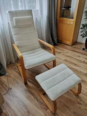 Ikea Sessel mit Hocker