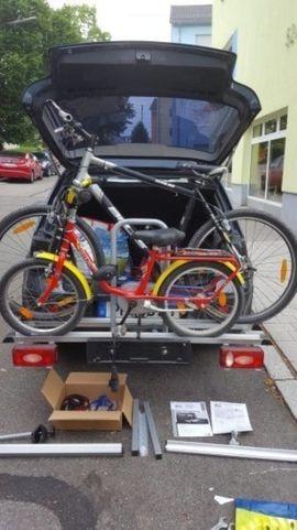 Fahrrad-, Dachgepäckträger, Dachboxen - Fahrradträger für die Anhängerkupplung