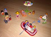 Playmobil gemischte Strandurlauber mit Schlauchboot