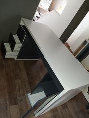 Schreibtisch grau weiss