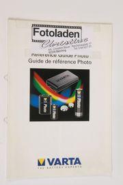Orig Varta Bestückungsliste Prospekt Batterien