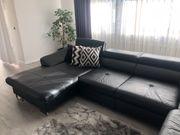 Echtes Leder Sofa mit Bettfunktion