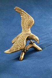 Messingfigur Messing Adler Figur Deko