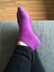 Getragene Socken mit meinem Fußduft