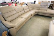 Couch Sofa aus leder in L-Form