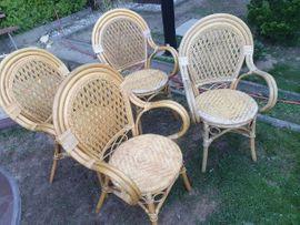 4 Rattan Stühle