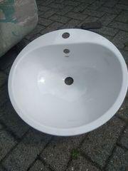 2 NEUE runde weiße Metalleinbau