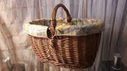Korb Weidenkorb geflochten Picknick Einkaufskorb