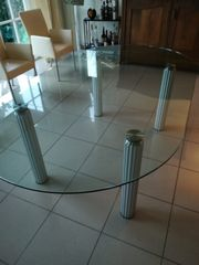 Designer-Glastisch -oval-