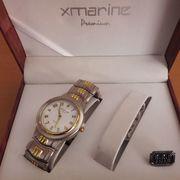 maurice lacroix; herren armbanduhr; analog quarz