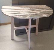 Tisch halbrund Wandtisch Balkontisch Blumentisch