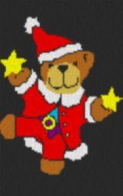Vorlage für Ministeck Tanzender Weihnachtsbär