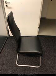 6 Esszimmer bzw Besprechungszimmer Echtleder-Sessel