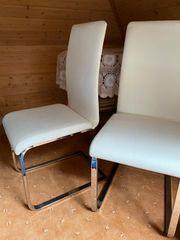 2 Hochwertige Swingstühle Edelstahl Kustleder