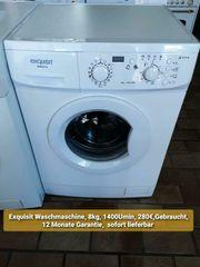 Exquisit Waschmaschine 8kg 1400Umin gebraucht