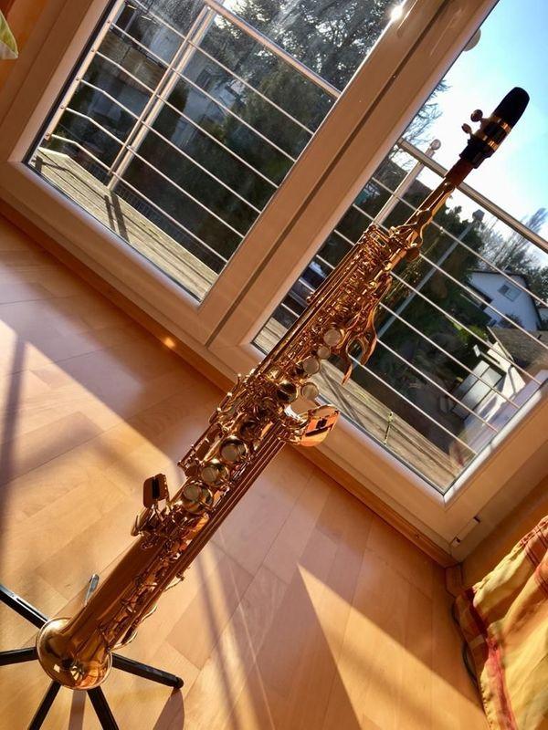 Jupiter Sopransaxophon sehr gut erhalten -