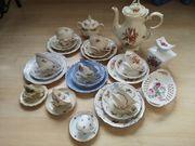 Sammeltassen Konvolut mit Teekanne