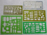 Zeichenschablone Konstruktion Zeichnen transparent grün