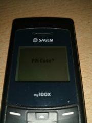 Sagem Handy mg100x mit Ladegerät