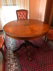 Intarsientisch Holztisch Tisch Intarsienarbeit Tisch
