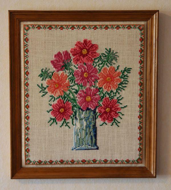 Stickbilder mit Blumenmotiv