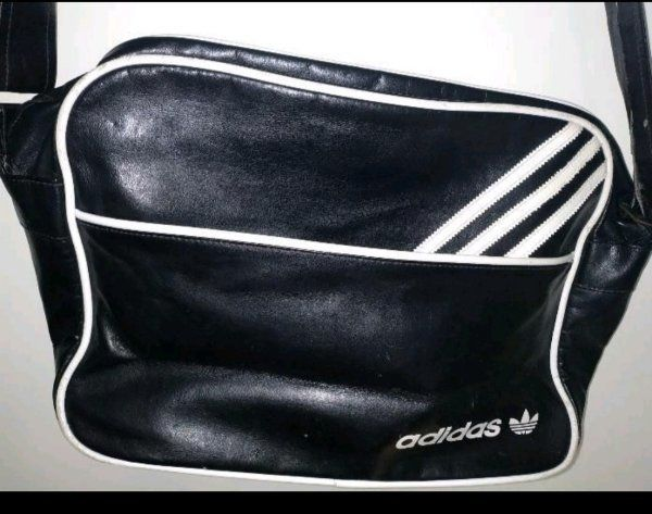 Original Leder Adidas Schulter Tasche