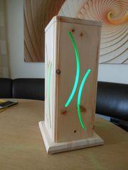 Zirbenholz Duftsäule mit LED Stripe
