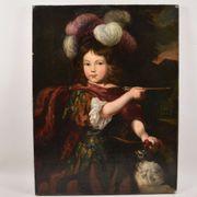 Gemälde Kinderporträt bez Eigentum Familie