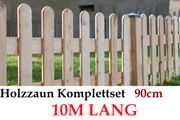 90cm Holzzaunset Zaunpaket 10M lang