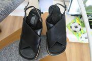 Damen Sandaletten Plateau Größe 38
