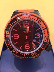 POSEIDON Herren-Uhr XL Black-Pro Silikon