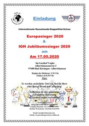 Hundeausstellung - Doppeltitelschau 2020