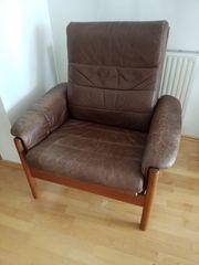 Leder-Sessel verstellbare Rückenlehne