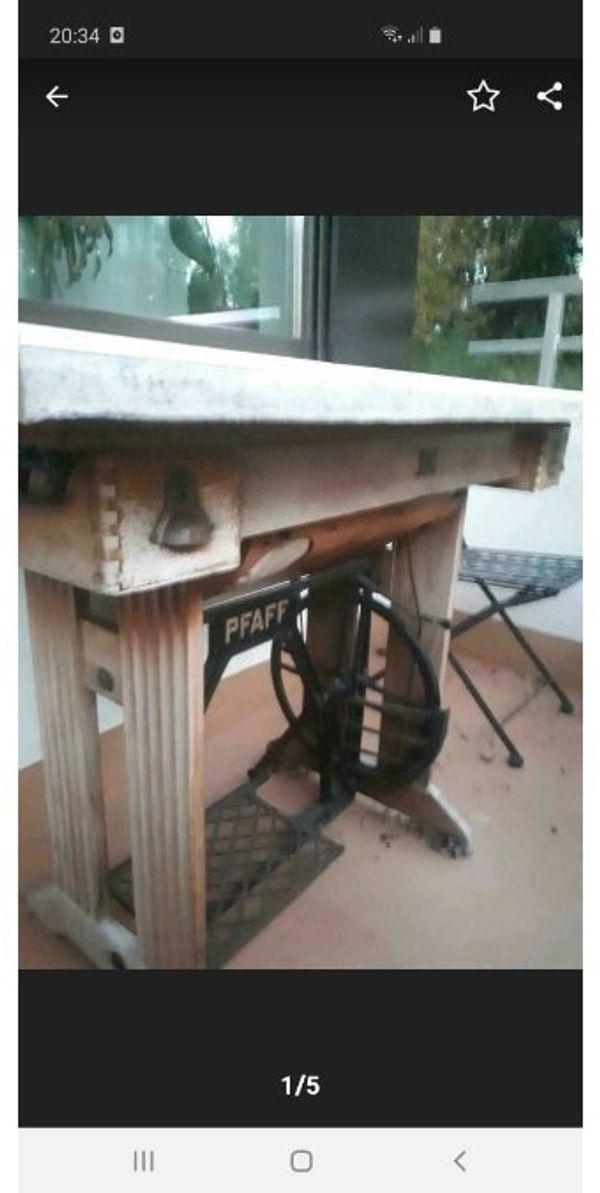 Balkontisch Pfaff Nähmaschinen Tisch mit