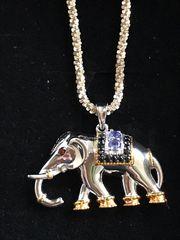 Elefanten-Anhänger mit Silberkette