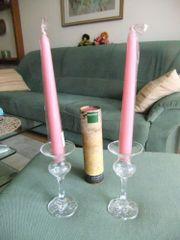 2 Rosenthal Kerzenständer Kerzenhalter Glas