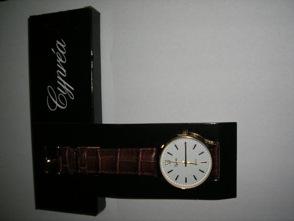 Sportliche Armbanduhr mit braunem Armband - Cypvea