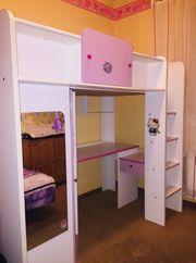 Multifunktionsbett Kinder-Hochbett mit Schreibtisch Schrank