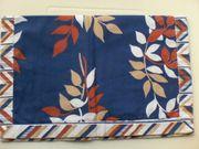 Deckchen - Wendedeckchen - mehrfarbig - blau gemustert -