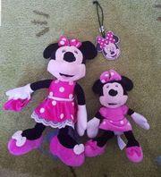 2x Minnie Maus Plüschfiguren Minnie