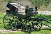Kutsche antik Doktor-Chaise Einspänner