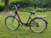 Damenrad mit tiefem Einstieg 28