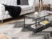 Teppich Leder grau 140 x
