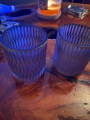 2 schöne Teelichtglässer