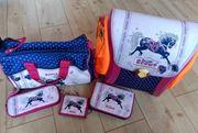 Scout Schulranzen-Set rosa Pferdchen gebraucht