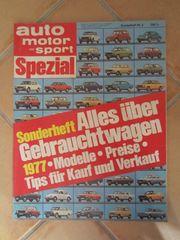 Autobuch Autozeitschrift Auto Motor und