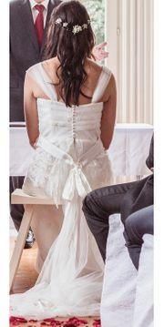 Brautkleid Spitze Seide