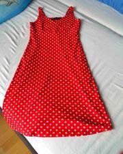 NEU rotes Kleid mit weißen