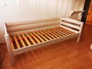 Flexa Bett weiß Massivholz Liegefläche